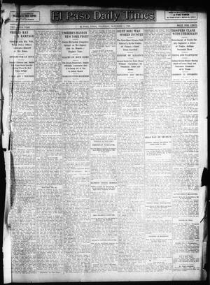 Primary view of object titled 'El Paso Daily Times (El Paso, Tex.), Vol. 26, Ed. 1 Thursday, November 1, 1906'.