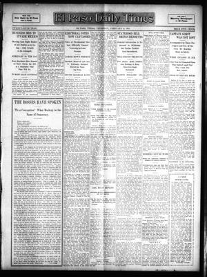 Primary view of object titled 'El Paso Daily Times (El Paso, Tex.), Vol. 25, Ed. 1 Thursday, February 9, 1905'.
