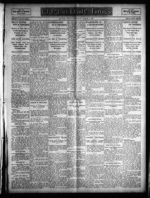 Primary view of object titled 'El Paso Daily Times (El Paso, Tex.), Vol. 25, Ed. 1 Saturday, March 4, 1905'.