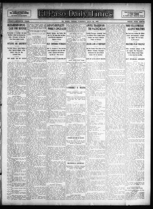 Primary view of object titled 'El Paso Daily Times (El Paso, Tex.), Vol. 27, Ed. 1 Tuesday, July 23, 1907'.