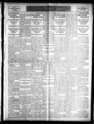Primary view of object titled 'El Paso Daily Times (El Paso, Tex.), Vol. 25, Ed. 1 Wednesday, January 18, 1905'.
