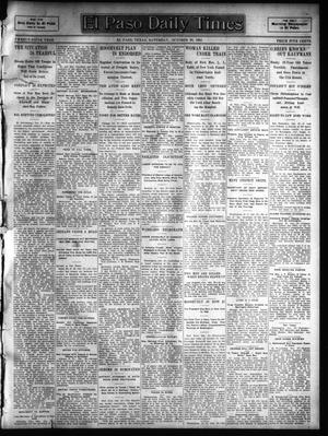 Primary view of object titled 'El Paso Daily Times (El Paso, Tex.), Vol. 25, Ed. 1 Saturday, October 28, 1905'.