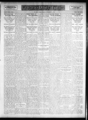 Primary view of object titled 'El Paso Daily Times (El Paso, Tex.), Vol. 26, Ed. 1 Monday, November 26, 1906'.