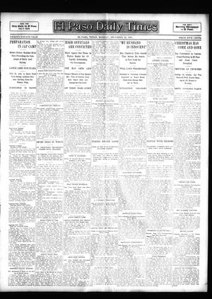 Primary view of object titled 'El Paso Daily Times (El Paso, Tex.), Vol. 24, Ed. 1 Monday, December 26, 1904'.
