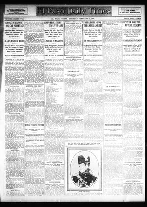 Primary view of object titled 'El Paso Daily Times (El Paso, Tex.), Vol. 28, Ed. 1 Saturday, February 15, 1908'.