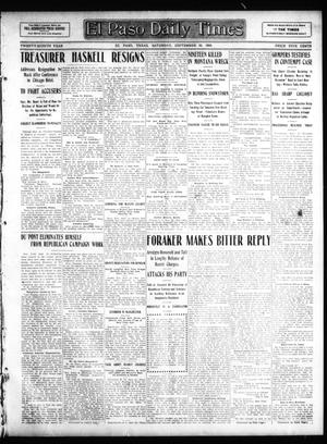 Primary view of object titled 'El Paso Daily Times (El Paso, Tex.), Vol. 28, Ed. 1 Saturday, September 26, 1908'.