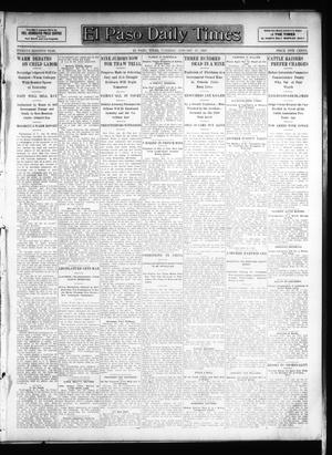 Primary view of object titled 'El Paso Daily Times (El Paso, Tex.), Vol. 26, Ed. 1 Tuesday, January 29, 1907'.