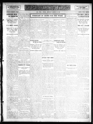 Primary view of object titled 'El Paso Daily Times (El Paso, Tex.), Vol. 28, Ed. 1 Monday, March 23, 1908'.