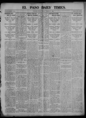 Primary view of object titled 'El Paso Daily Times. (El Paso, Tex.), Vol. 23, Ed. 1 Friday, March 13, 1903'.