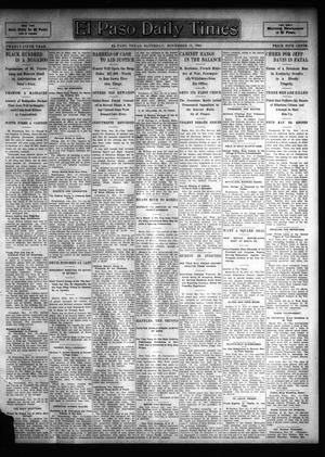 Primary view of object titled 'El Paso Daily Times (El Paso, Tex.), Vol. 25, Ed. 1 Saturday, November 11, 1905'.