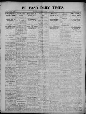Primary view of object titled 'El Paso Daily Times. (El Paso, Tex.), Vol. 23, No. 27, Ed. 1 Wednesday, June 10, 1903'.