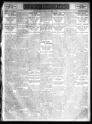 Primary view of object titled 'El Paso Daily Times (El Paso, Tex.), Vol. 25, Ed. 1 Monday, December 18, 1905'.