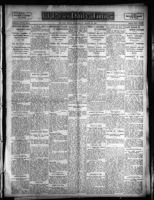 Primary view of object titled 'El Paso Daily Times (El Paso, Tex.), Vol. 25, Ed. 1 Wednesday, March 29, 1905'.