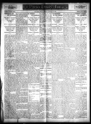 Primary view of object titled 'El Paso Daily Times (El Paso, Tex.), Vol. 25, Ed. 1 Friday, August 25, 1905'.