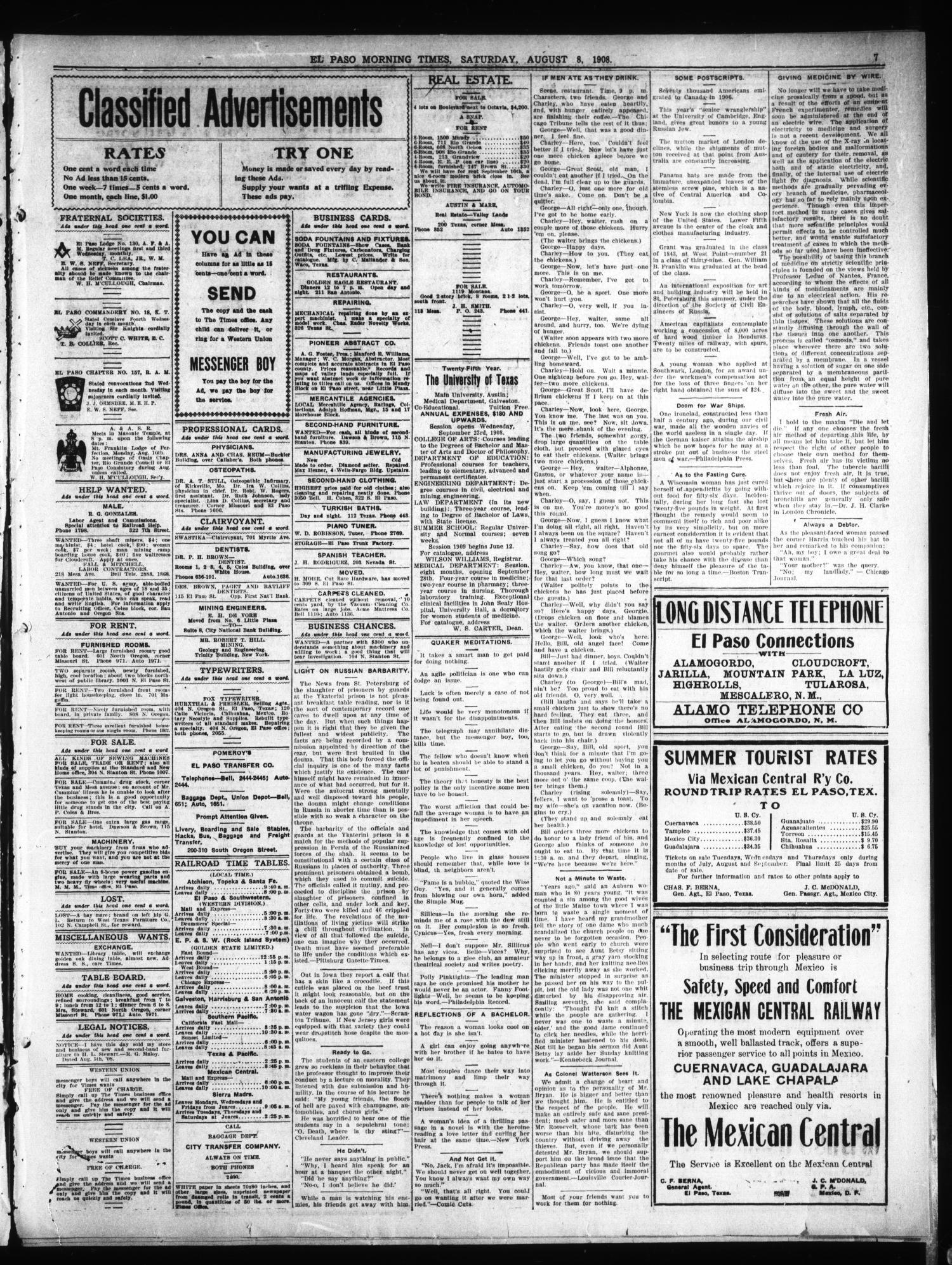 El Paso Daily Times El Paso Tex Vol 28 Ed 1 Saturday