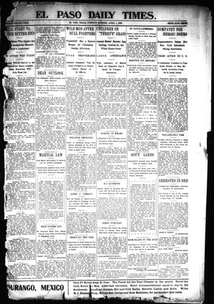 Primary view of object titled 'El Paso Daily Times. (El Paso, Tex.), Vol. 22, Ed. 1 Tuesday, April 1, 1902'.