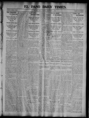 Primary view of object titled 'El Paso Daily Times. (El Paso, Tex.), Vol. 23, No. 117, Ed. 1 Tuesday, September 8, 1903'.