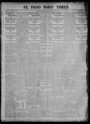 Primary view of object titled 'El Paso Daily Times. (El Paso, Tex.), Vol. 24, Ed. 1 Monday, January 4, 1904'.