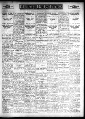 Primary view of object titled 'El Paso Daily Times (El Paso, Tex.), Vol. 26, Ed. 1 Saturday, February 17, 1906'.