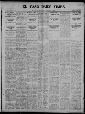 Primary view of object titled 'El Paso Daily Times. (El Paso, Tex.), Vol. 23, Ed. 1 Thursday, February 19, 1903'.