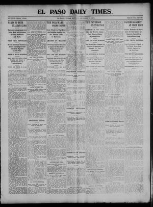 Primary view of object titled 'El Paso Daily Times. (El Paso, Tex.), Vol. 23, Ed. 1 Monday, October 12, 1903'.