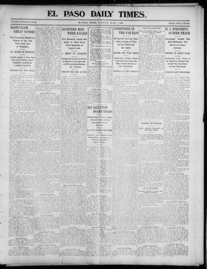 Primary view of object titled 'El Paso Daily Times. (El Paso, Tex.), Vol. 24, Ed. 1 Tuesday, June 7, 1904'.
