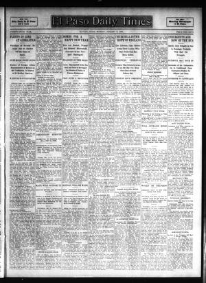 Primary view of object titled 'El Paso Daily Times (El Paso, Tex.), Vol. 26, Ed. 1 Monday, January 15, 1906'.