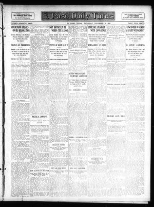 Primary view of object titled 'El Paso Daily Times (El Paso, Tex.), Vol. 27, Ed. 1 Thursday, December 19, 1907'.