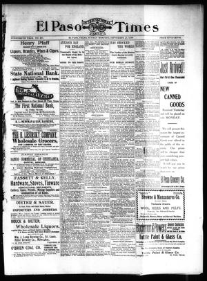 Primary view of object titled 'El Paso International Daily Times (El Paso, Tex.), Vol. 19, No. 227, Ed. 1 Sunday, September 17, 1899'.