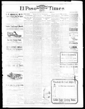 Primary view of object titled 'El Paso International Daily Times (El Paso, Tex.), Vol. 18, No. 262, Ed. 1 Wednesday, November 2, 1898'.