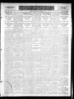 Primary view of object titled 'El Paso Daily Times (El Paso, Tex.), Vol. 26, Ed. 1 Monday, December 3, 1906'.