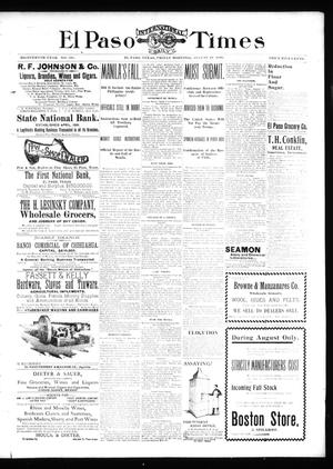 Primary view of object titled 'El Paso International Daily Times (El Paso, Tex.), Vol. 18, No. 198, Ed. 1 Friday, August 19, 1898'.