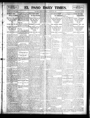 Primary view of object titled 'El Paso Daily Times. (El Paso, Tex.), Vol. 24, Ed. 1 Saturday, August 20, 1904'.