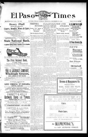 Primary view of El Paso International Daily Times (El Paso, Tex.), Vol. 18, No. 296, Ed. 1 Tuesday, December 13, 1898