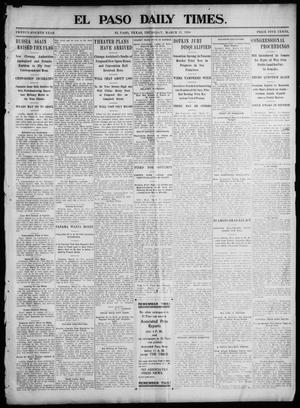 Primary view of object titled 'El Paso Daily Times. (El Paso, Tex.), Vol. 24, Ed. 1 Thursday, March 31, 1904'.