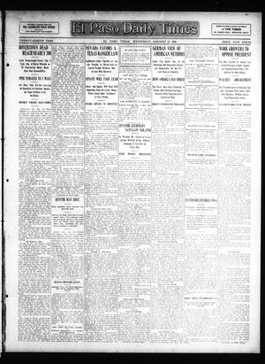 Primary view of object titled 'El Paso Daily Times (El Paso, Tex.), Vol. 28, Ed. 1 Wednesday, January 15, 1908'.