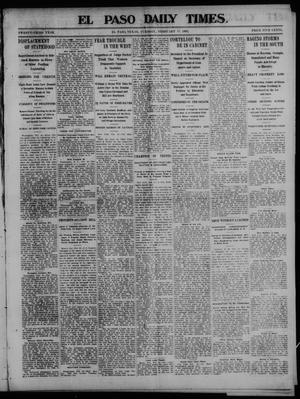 Primary view of object titled 'El Paso Daily Times. (El Paso, Tex.), Vol. 23, Ed. 1 Tuesday, February 17, 1903'.