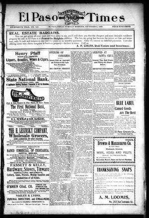 Primary view of El Paso International Daily Times (El Paso, Tex.), Vol. 19, No. 294, Ed. 1 Tuesday, December 5, 1899