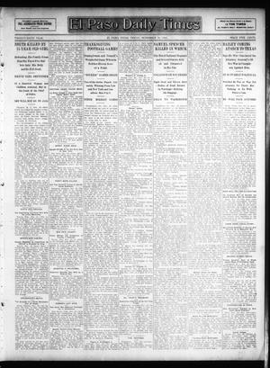 Primary view of object titled 'El Paso Daily Times (El Paso, Tex.), Vol. 26, Ed. 1 Friday, November 30, 1906'.