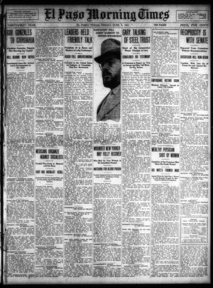 Primary view of object titled 'El Paso Morning Times (El Paso, Tex.), Vol. 31, Ed. 1 Friday, June 9, 1911'.
