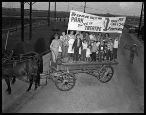 Primary view of object titled 'Wagon Ride To Park Drive-In #1'.