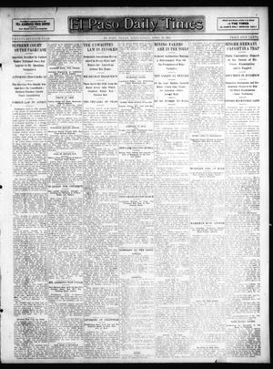 Primary view of object titled 'El Paso Daily Times (El Paso, Tex.), Vol. 27, Ed. 1 Wednesday, April 10, 1907'.