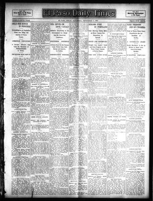 Primary view of object titled 'El Paso Daily Times (El Paso, Tex.), Vol. 25, Ed. 1 Saturday, September 2, 1905'.