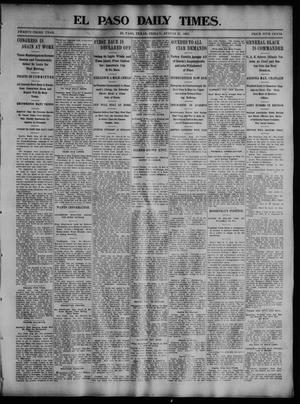 Primary view of object titled 'El Paso Daily Times. (El Paso, Tex.), Vol. 23, No. 99, Ed. 1 Friday, August 21, 1903'.