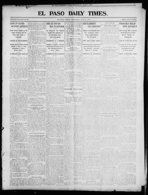 Primary view of object titled 'El Paso Daily Times. (El Paso, Tex.), Vol. 24, Ed. 1 Thursday, June 2, 1904'.