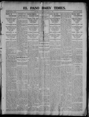 Primary view of object titled 'El Paso Daily Times. (El Paso, Tex.), Vol. 23, No. 53, Ed. 1 Monday, July 6, 1903'.