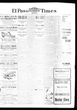 Primary view of object titled 'El Paso International Daily Times (El Paso, Tex.), Vol. 18, No. 188, Ed. 1 Sunday, August 7, 1898'.