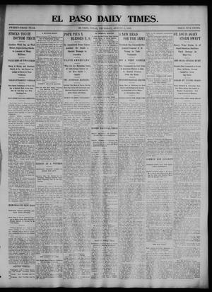 Primary view of El Paso Daily Times. (El Paso, Tex.), Vol. 23, No. 84, Ed. 1 Thursday, August 6, 1903