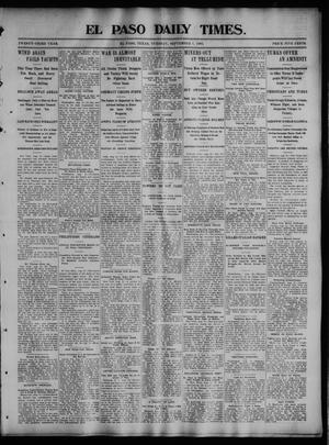 Primary view of object titled 'El Paso Daily Times. (El Paso, Tex.), Vol. 23, No. 110, Ed. 1 Tuesday, September 1, 1903'.