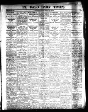 Primary view of object titled 'El Paso Daily Times. (El Paso, Tex.), Vol. 22, Ed. 1 Wednesday, May 28, 1902'.